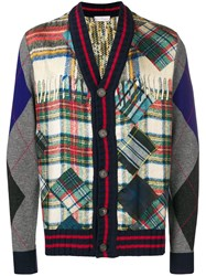 Pierre Louis Mascia Patchwork Cardigan Grey