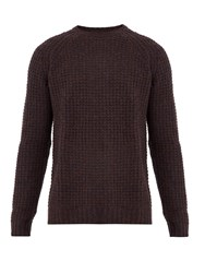 Saturdays Surf Nyc Miguel Waffle Knit Sweater Brown