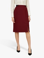 Jaeger Puppytooth Pencil Skirt Black Red Check