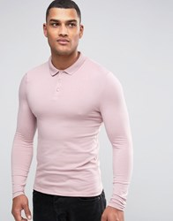 Asos Extreme Muscle Polo In Pink Pink