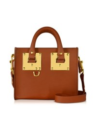 Sophie Hulme Tan Saddle Leather Albion Box Tote Bag