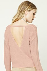 Forever 21 Contemporary Surplice Sweater Blush