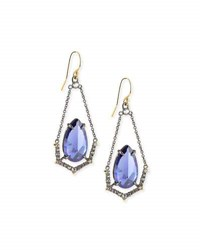 Alexis Bittar Crystal Illusion Set Wire Drop Earrings