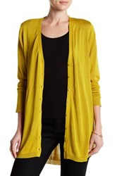 Joseph A Hi Lo Button Front Cardigan Yellow