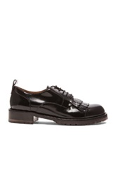 Valentino Formal Leather Derbies In Black