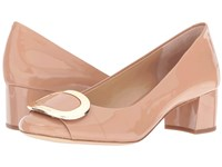 Michael Michael Kors Pauline Mid Pump Dark Nude Patent Women's Shoes Beige