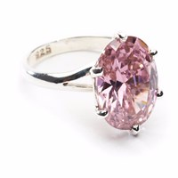 Arabian Silver Candy Pink Ring Pink Purple