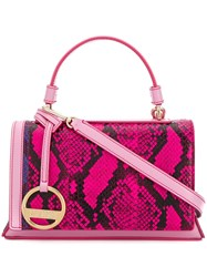 Emilio Pucci Snakeskin Effect Small Satchel Pink