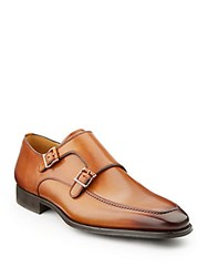 Saks Fifth Avenue By Magnanni Double Monk Dress Shoes Available In Extended Sizes Cognac
