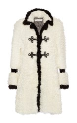 Philosophy Di Lorenzo Serafini Kalgan Fur Coat Black White