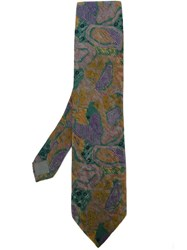 Kenzo Vintage Abstract Print Tie Multicolour