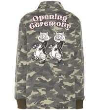 Opening Ceremony Tigers Coach Camouflage Printed Cotton Jacket Multicoloured