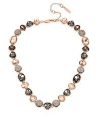 Kenneth Cole Supercharged Crystal Collar Necklace Rose Gold