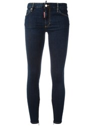Dsquared2 Twiggy Stonewashed Effect Jeans Blue