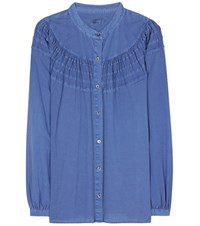 Closed Cotton Blouse Blue