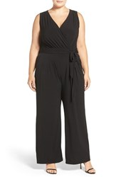 Vince Camuto Plus Size Women's Wide Leg V Neck Jumpsuit