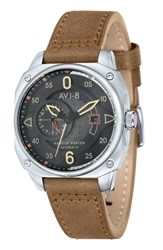 Avi 8 Men's 'Hawker Hunter' Automatic Leather Strap Watch 44Mm