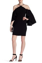 Alexia Admor Flutter Sleeve Dress Black