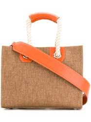 Rodo Basket Shopper Tote Brown