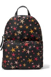 Red Valentino Studded Printed Shell Backpack Black
