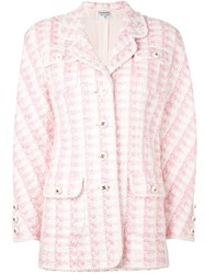 Chanel Vintage Boucle Jacket Pink And Purple