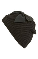 Women's Kate Spade New York Diagonal Rib Knit Beanie Black