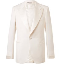 Tom Ford Cream Shelton Wool And Mohair Blend Suit Jacket Cream