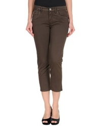 Liu Jeans Denim Capris Dark Brown