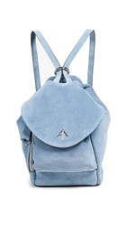 Manu Atelier Mini Fernweh Convertible Backpack Blue Jeans