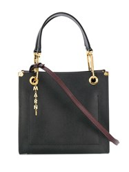 Marni Colour Block Tote Bag Black