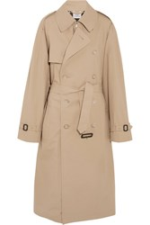 Vetements Mackintosh Oversized Cotton Trench Coat Beige