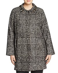 Marina Rinaldi Ninnolo Tweed Coat Black