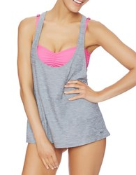Oakley Tankini And Sports Bra Grey