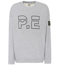 P.E Nation Heads Up Cotton Sweater Grey