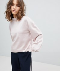 Selected Femme Sweatshirt With High Neck And Sleeve Detail Pink