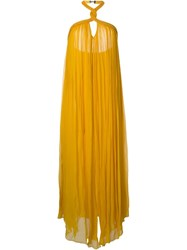 Jay Ahr Halterneck Evening Gown Yellow And Orange