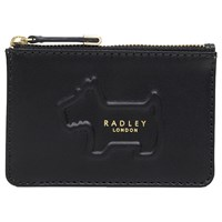 Radley Shadow Leather Small Zip Top Coin Purse Black Multi