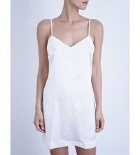 La Perla Silk Essence Short Stretch Silk Nightgown Natural