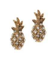 Lonna And Lilly Crystal Stud Earrings Gold