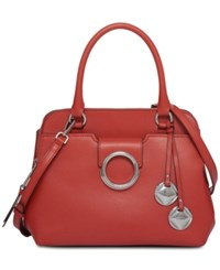 Calvin Klein Reese Small Top Handle Satchel Persimmon