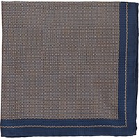 Fairfax Men's Micro Dot Silk Pocket Square Navy