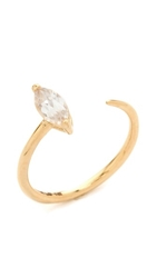 Mirlo Marquis Claw Ring Gold Clear