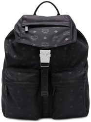 Mcm Medium Two Pocket Dieter Backpack Black