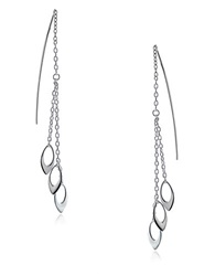 Lord And Taylor Sterling Silver Threader Earrings