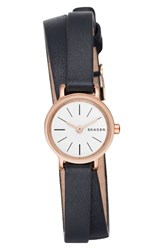 Skagen Women's Hagen Round Wrap Leather Strap Watch 20Mm
