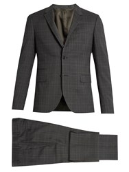 Valentino Prince Of Wales Checked Notch Lapel Wool Suit Grey