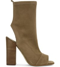 Aldo Ibania Suede Heeled Sandals Natural