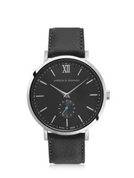 Larsson And Jennings Lugano Jura 38Mm Silver Charcoal Watch Black