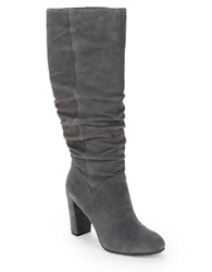 Nine West Shiryl Suede Knee High Boots Dark Grey