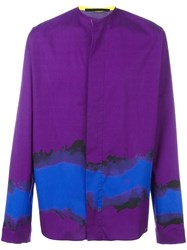 Haider Ackermann Mandarin Neck Shirt Pink Purple